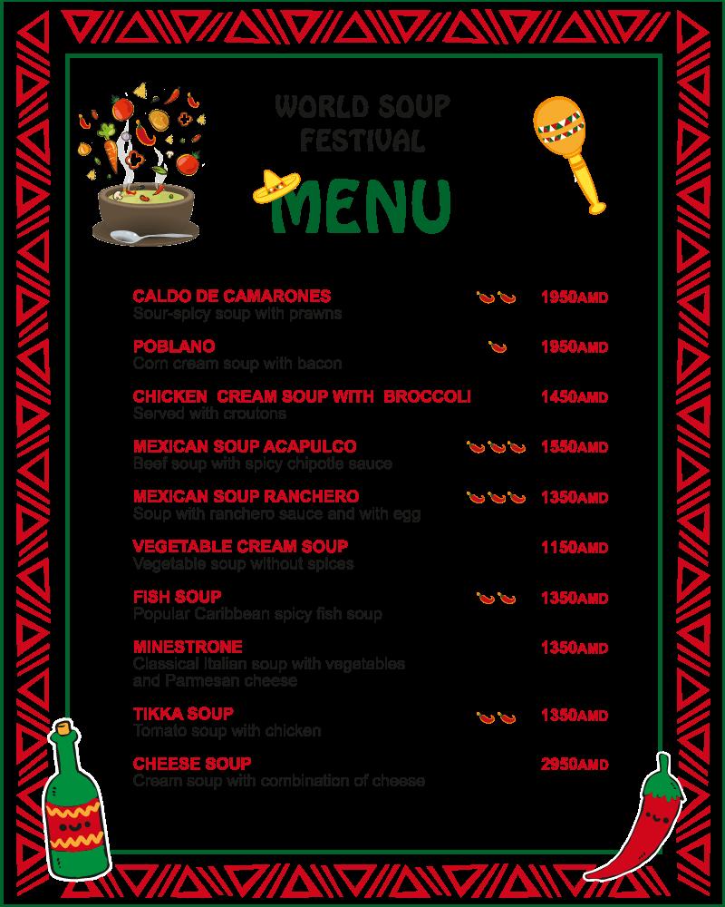 Soup festival menu